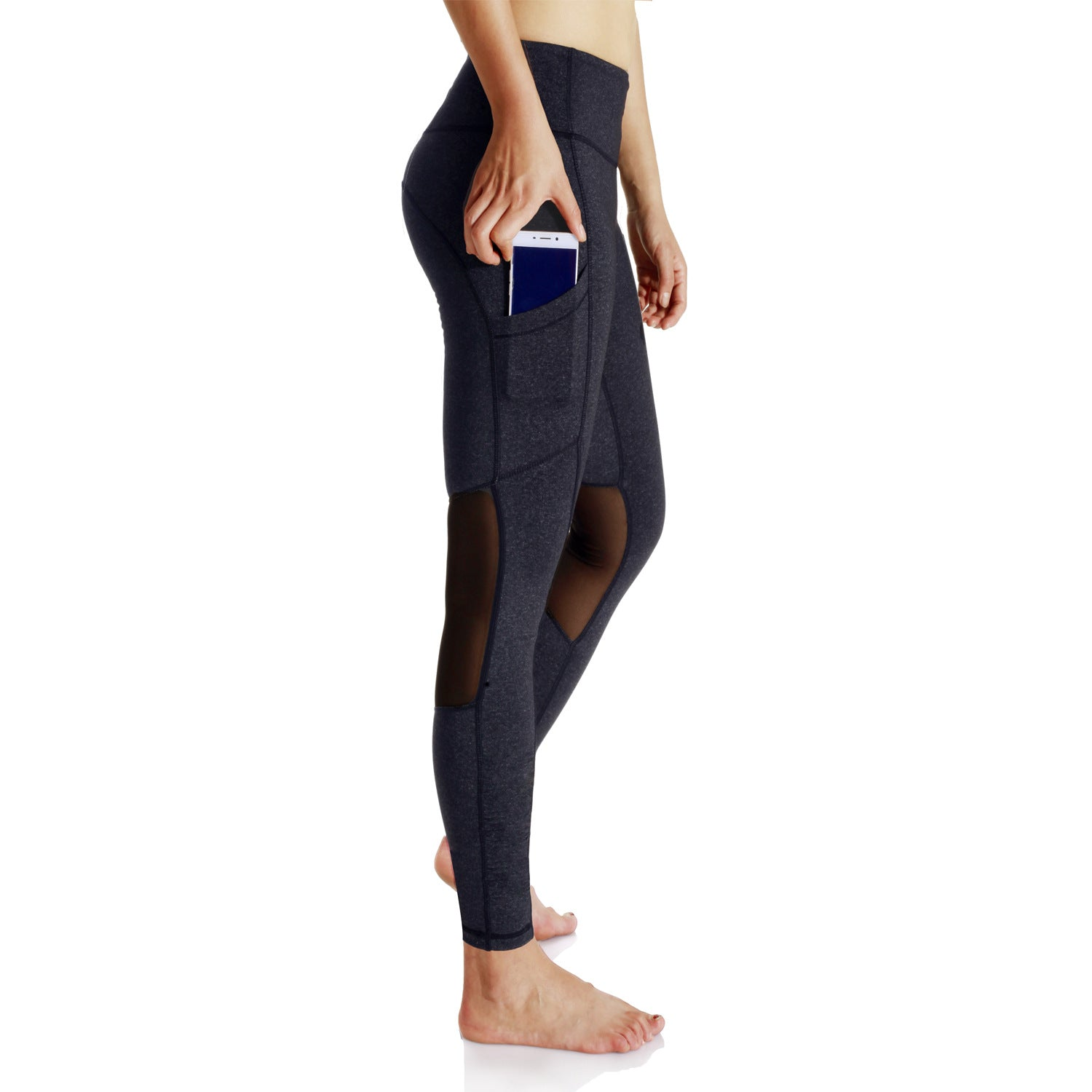 eedfd0dcb268 Active Wear - Women's Workout Leggings with High Waist Tummy Control and  Out Pocket / Running, Yoga Pants