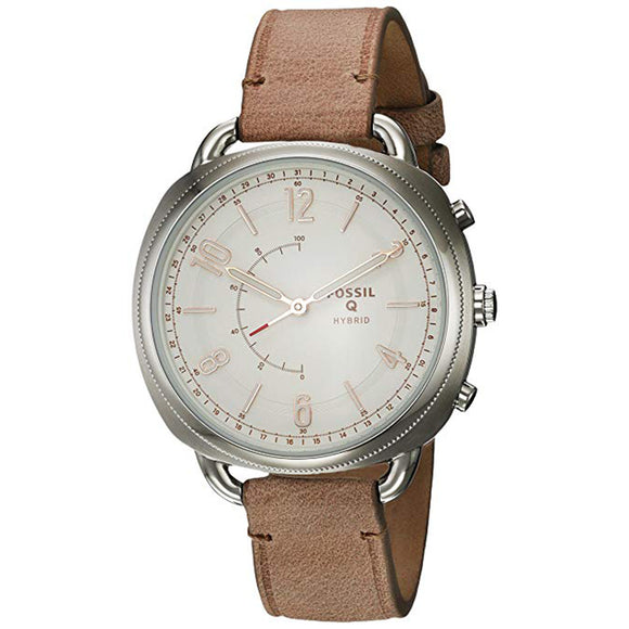 Fossil Smartwatch-Hybrid Womens Accomplice Sand Leather Ftw1200