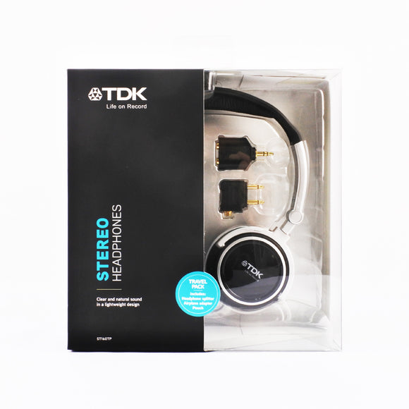 TDK Headphone Travel Pack Black ST160TP
