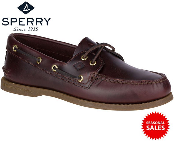 Sperry Men's Authentic Original 2-Eye Boat Shoes (Brand New / Colour: Amaretto / Model No: 0195214)