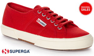 Superga Cotu Classic 2750 Unisex Adult Sneakers Red Shoes (Brand New / Colour: Red / Model No: 975)