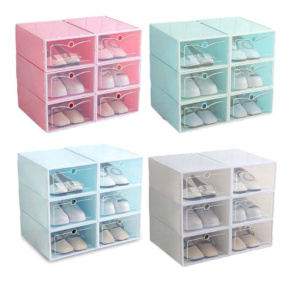 Bundle of 6 Shoes Box Storage Rack Shoe Cabinet Drawer Shelf