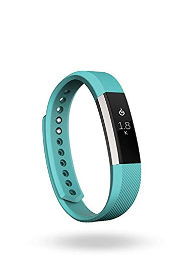 Fitbit Alta Fitness Tracker, Silver/Teal, Small (5.5 - 6.7 Inch) (Refurbished)