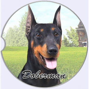 Doberman Car coaster
