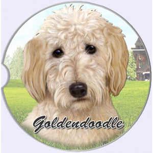 Goldendoodle car coaster