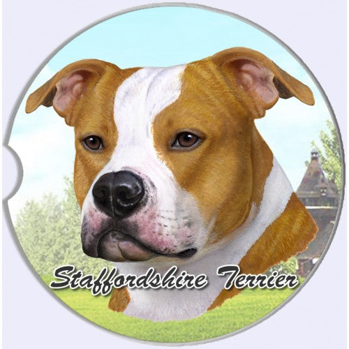 American StaffordshireTerrier car coasters