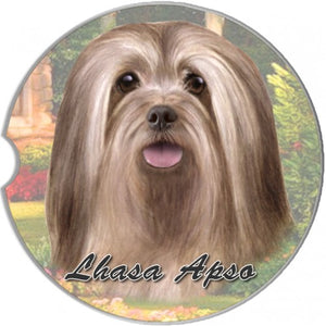 Lhasa Apso Car Coaster