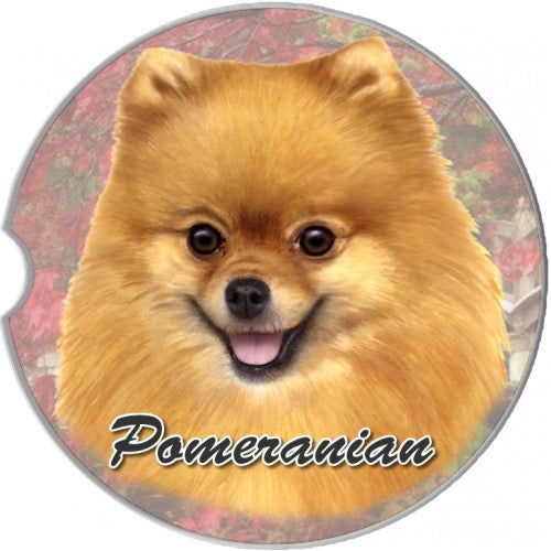 Pomeranian car coaster