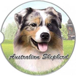 Australian Shepherd Car Coasters