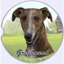 Greyhound Car coasters