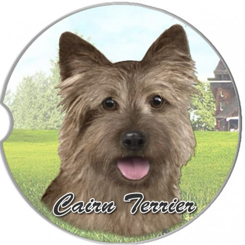 Cairn terrier car coaster