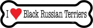 I love Black Russian terriers Bone Magnet