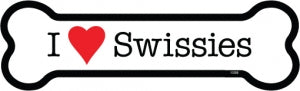 I love Swissies bone magnet