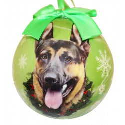 German Shepherd ball  Christmas ornaments