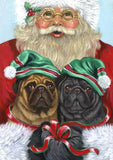Pug  Holiday Towel