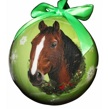Brown Horse Christmas Ball Ornament