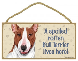 Bull Terrier- Brown-A house is not a home Plaques
