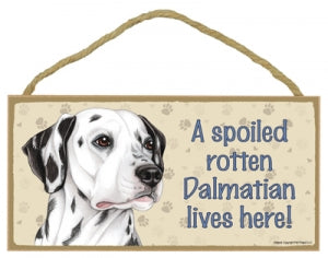 Dalmatian- A house is not a home Plaque