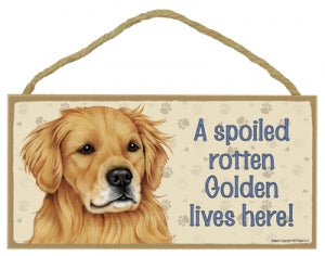 Golden Retriver - A house is not a home Plaque