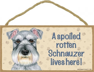 Schnauzer- A house is not a home Plaque