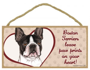 Boston Terrier - A house is not a home Plaques
