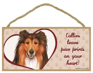 Collie - A house is not a home Plaque