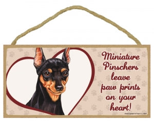 Min Pin- A house is not a home Plaque