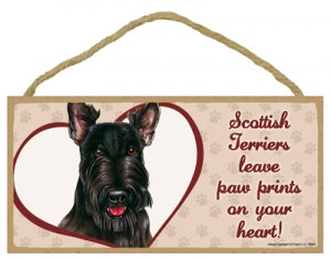 Scottish Terrier - A house is not a home Plaques