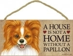 Papillion Black & white - A house is not a home Plaque