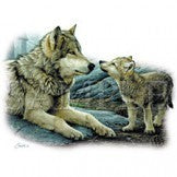 Brotherly love wolf t-shirt