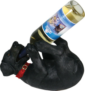 Black lab wine holder