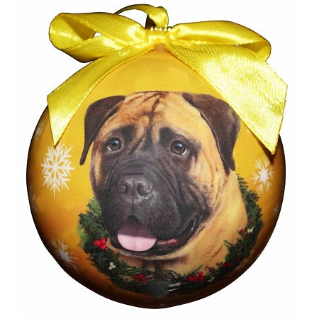 Bullmastiff Christmas Ball Ornament