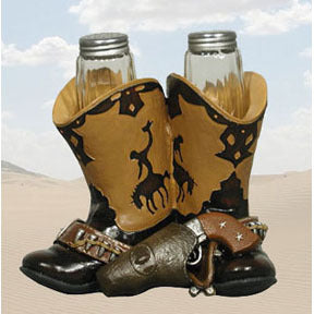 Boot Scooting salt & pepper shaker set