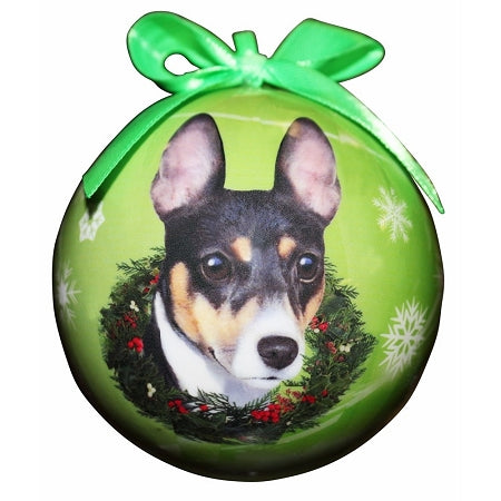 Rat Terrier Christmas Ball Ornament