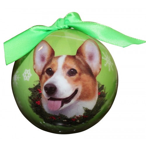 Corgi welsh ball Christmas ornament