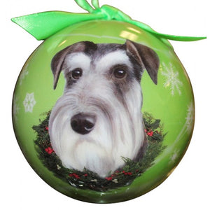 Schnauzer ball Christmas Ornament