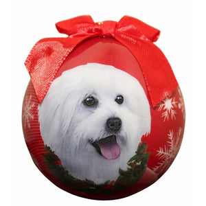 Maltipoo ball Christmas ornament