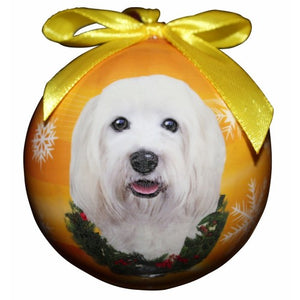 Havanese ball Christmas ornament