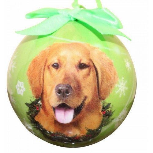 Golden Retriever Ball Christmas ornament