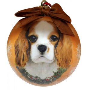 King Charles Cavalier ball Christmas ornament