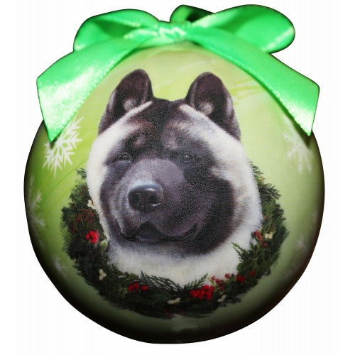 Akita ball Christmas ornaments