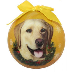 Yellow Lab ball Christmas ornaments