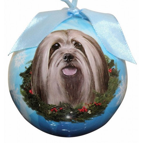 Lhasa Apsos ball Christmas ornaments