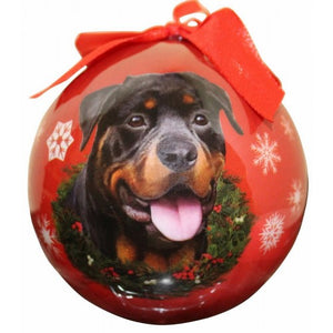 Rottweiler Ball Christmas Ornaments