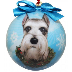 Cropped Schnauzer ball Christmas Ornament