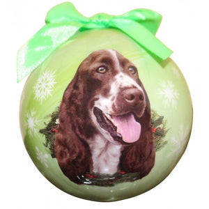 Springer Spaniel ball Christmas ornaments