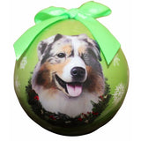 Australian Shepherd ball Christmas ornaments