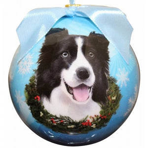 Border Collie ball Christmas ornaments