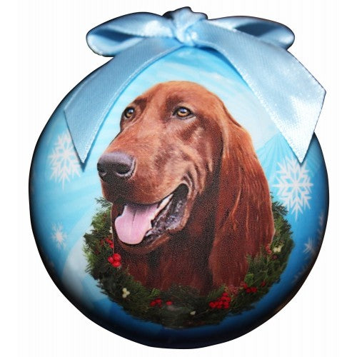 Irish Setter ball Christmas ornaments