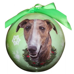 Greyhound Christmas ball ornament